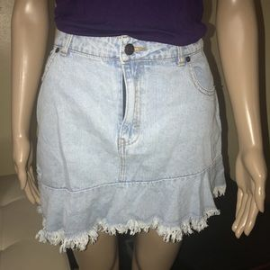Romeo & Juliet asymmetrical denim skirt